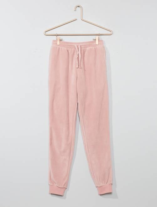 Pantalón de pijama de terciopelo                                                                 PURPURA Joven niña
