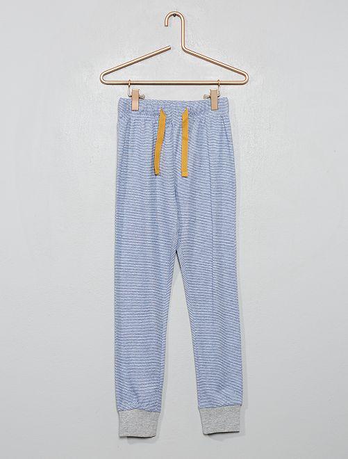 Pantalón de pijama estampado                                         AZUL