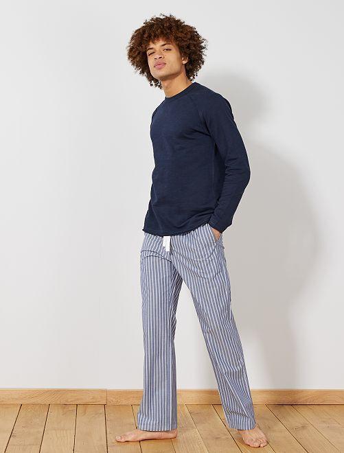 Pantalón de pijama estampado                                         AZUL Hombre
