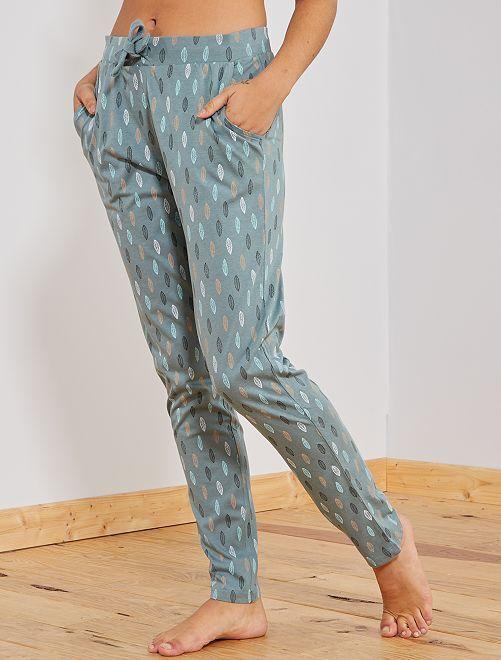 Pantalón de pijama estampado                                                                 AZUL Lencería de la s a la xxl