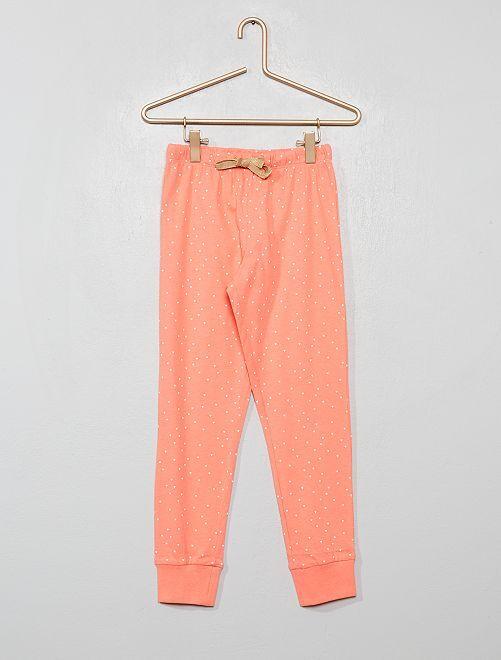 Pantalón de pijama estampado                                         BLANCO