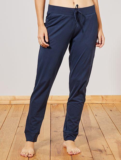 Pantalón de pijama estampado 'leopardo'                     azul marino