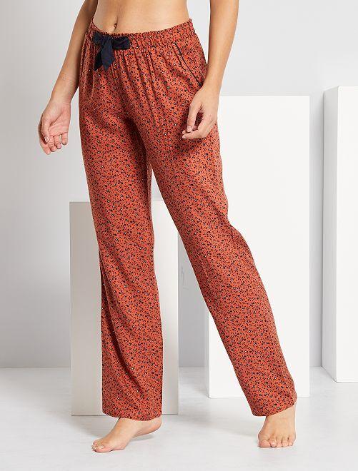 Pantalón de pijama estampado                                                     MARRON