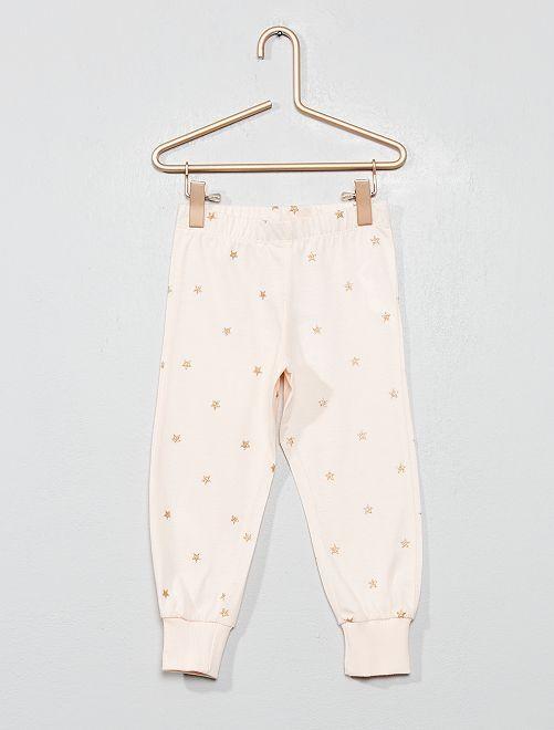 Pantalón de pijama 'estrellas'                                         ROSA