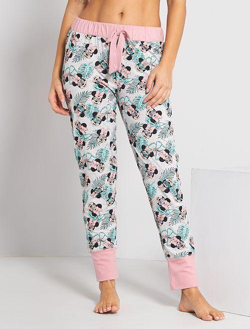 Pantalón de pijama 'Minnie'                                         rosa/verde