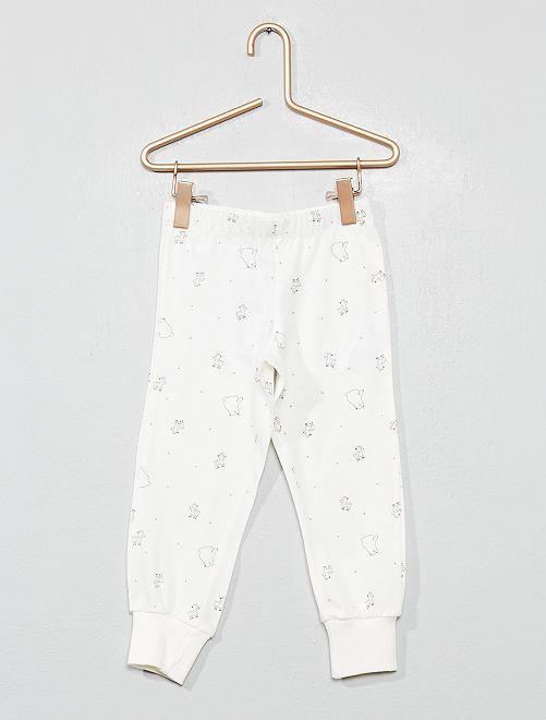 Pantalón de pijama 'osito' y 'ciervo'                             ROSA