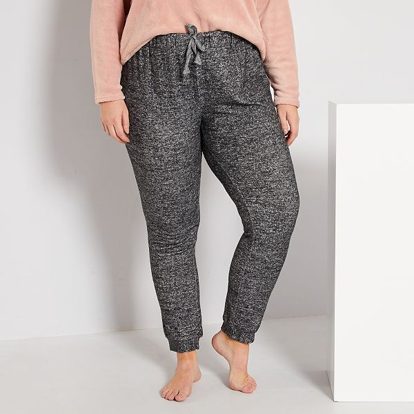Pantalon De Pijama Suave Tallas Grandes Mujer Gris Kiabi 12 00