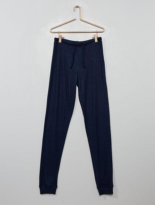 Pantalón de pijama vaporoso                             azul