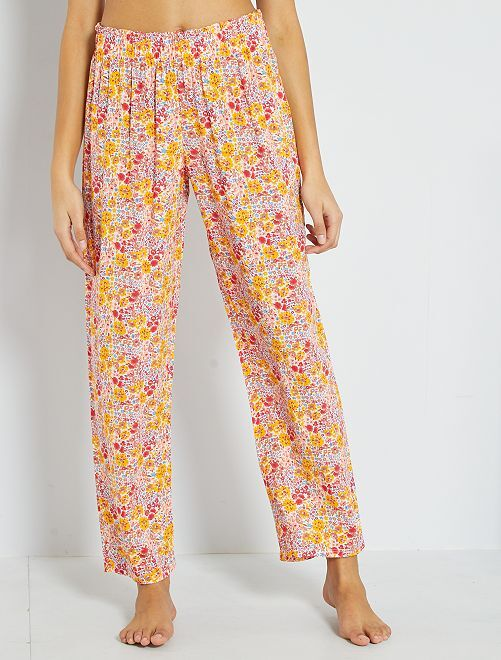 Pantalón de pijama vaporoso                                         ROSA