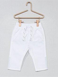 Pantalones - Pantalón de popelina de algodón puro - Kiabi