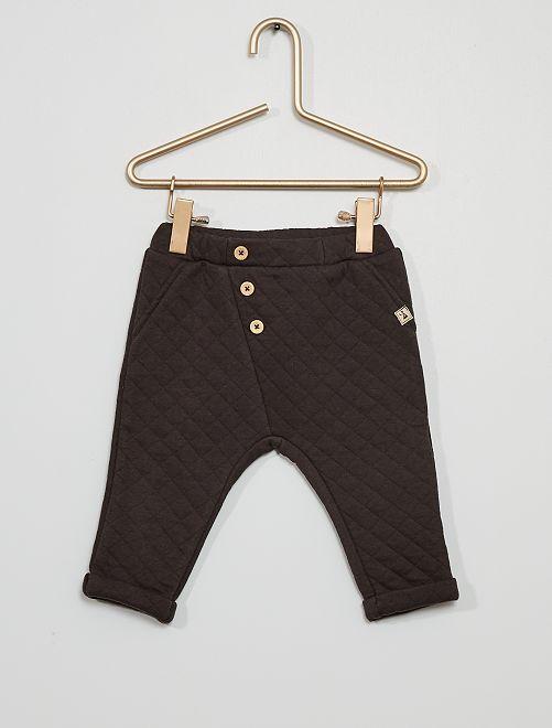 Pantalón de punto acolchado                                         gris oscuro