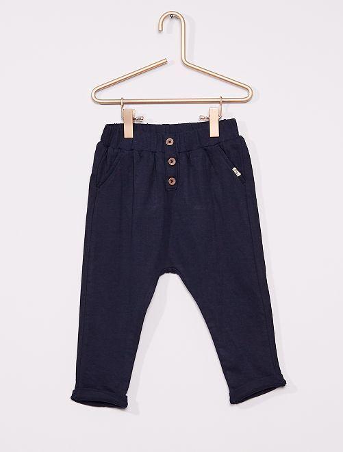 Pantalón de punto                                         azul
