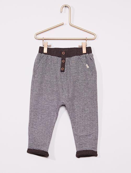 Pantalón de punto                                                     GRIS