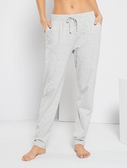 Pantalón de punto liso                                         GRIS