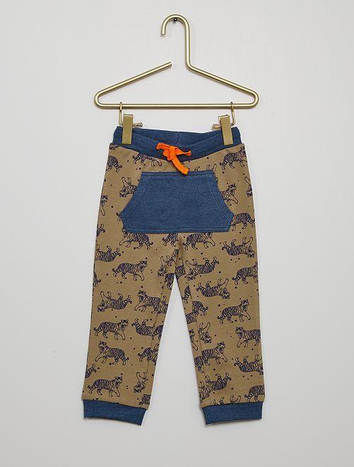 Pantalón de punto                             marrón/azul