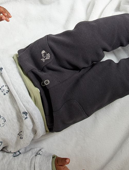 Pantalón de punto ottoman                                                                 GRIS