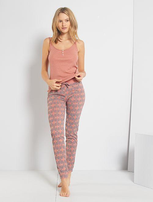 Pantalón de punto                     ROSA