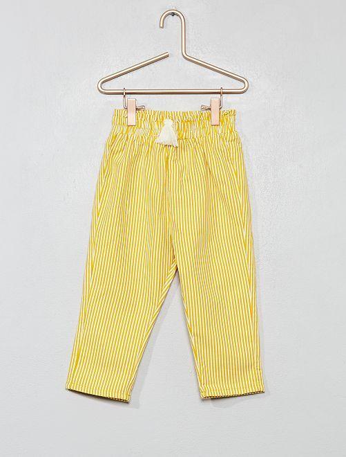 Pantalón de rayas                                                     AMARILLO Bebé niña
