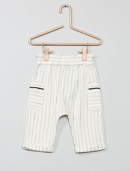 Pantalón de rayas                             BEIGE Bebé niña