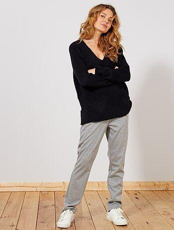 Mujer talla 34 a 48 - Pantalón de rayas - Kiabi 52ebc0d8f129
