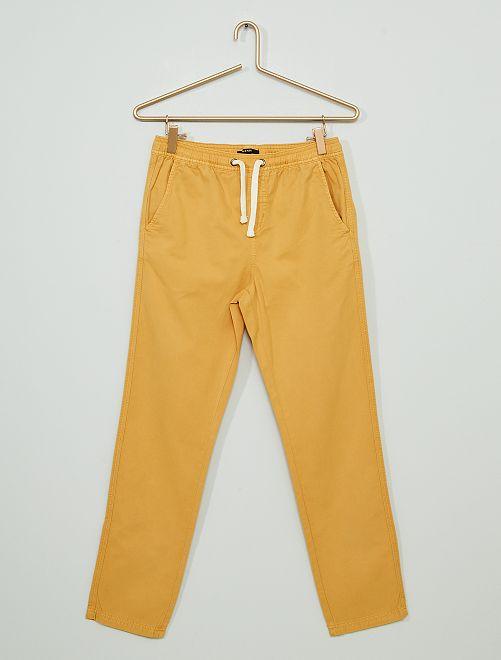 Pantalón de sarga                                                                 AMARILLO