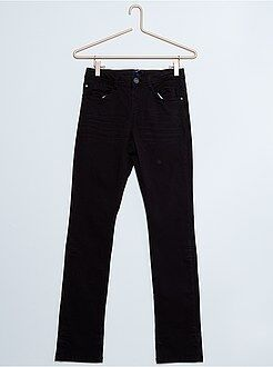 Pantalones - Pantalón de sarga de algodón elástico