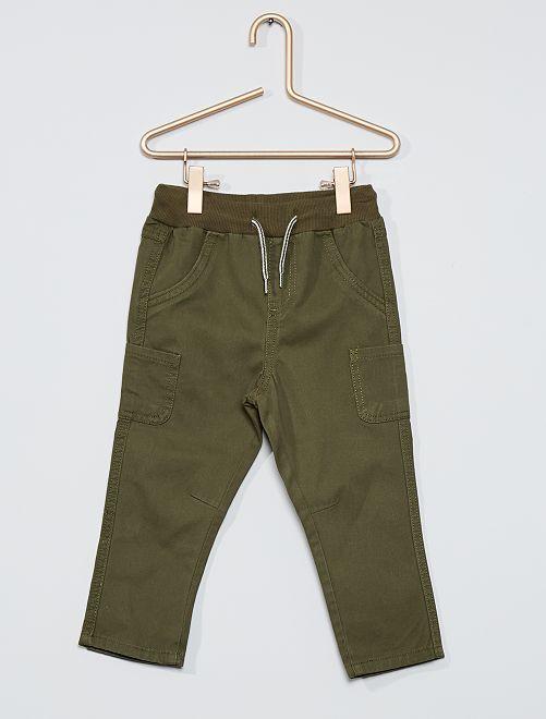 Pantalón de sarga de algodón                                                                                         KAKI