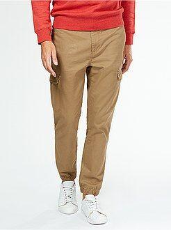 Hombre Pantalón de sarga estilo jogging