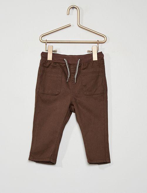 Pantalón de sarga                                                                             marrón