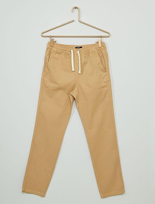 Pantalón de sarga                                                                 MARRON