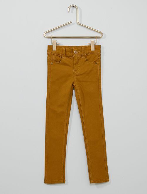 Pantalón de sarga para niños talla -                                                                                         AMARILLO