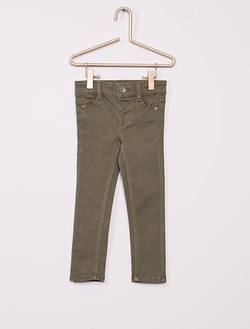 Pantalón de sarga para niños talla -                                                                                         verde oscuro