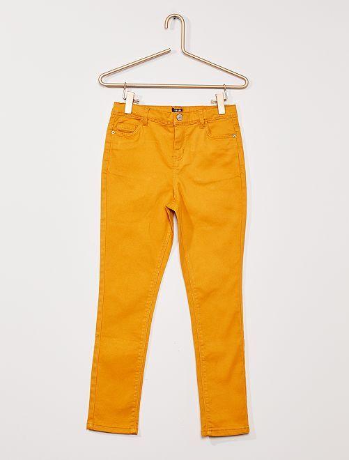 Pantalón de sarga para niños talla +                                                                             AMARILLO