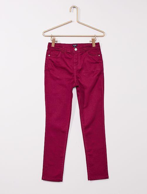 Pantalón de sarga para niños talla +                                                                             ciruela