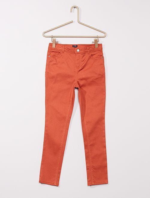Pantalón de sarga para niños talla +                                                                             NARANJA