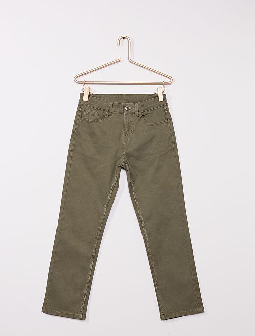 Pantalón de sarga para niños talla +                                         verde oscuro