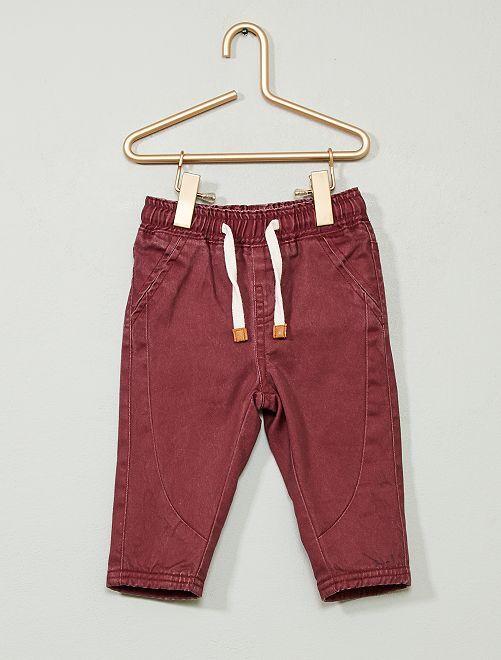 Pantalón de sarga                                                     rojo