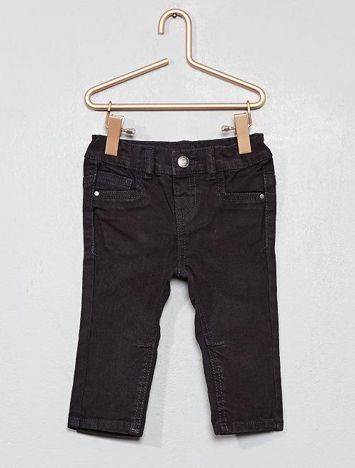 Pantalón de sarga slim                                                     gris oscuro