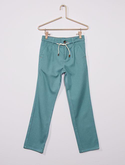 Pantalón de sarga vaporoso                                                     azul