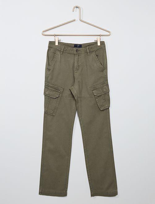 Pantalón de sarga                                         verde oscuro
