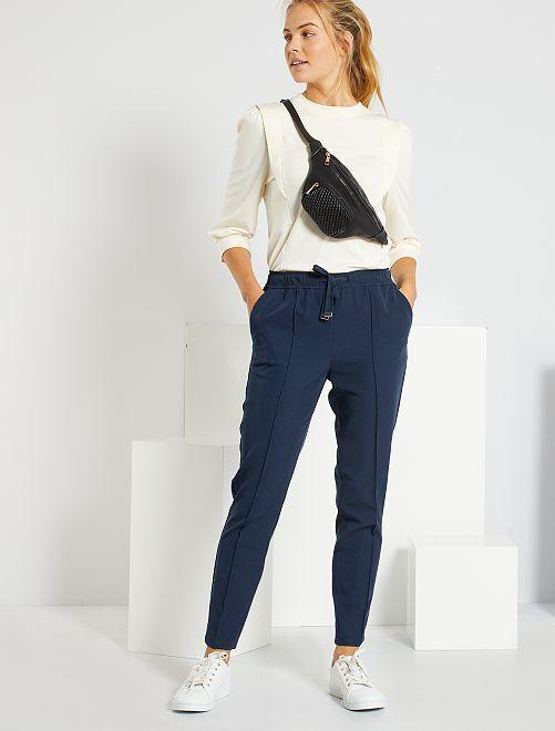 Pantalón de talle alto                                                                 azul