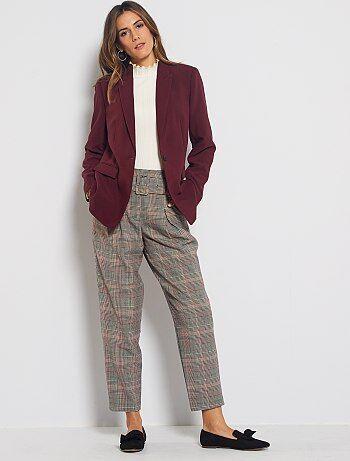 Pantalones De Vestir Mujer Talla 34 A 48 Gris Kiabi