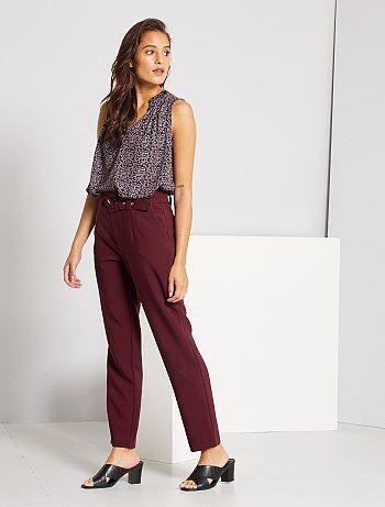 Pantalones De Vestir Mujer Talla 34 A 48 Rojo Kiabi