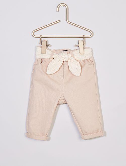 Pantalón de tela + cinturón eco-concepción                                                     ROSA