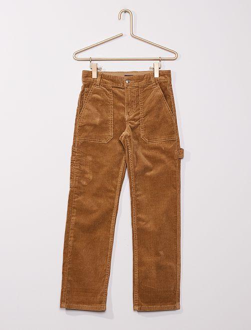 Pantalón de terciopelo                                                     BEIGE