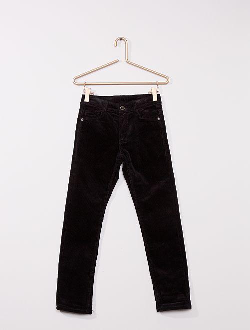 Pantalón de terciopelo                             negro