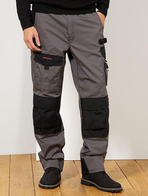 Pantalón de trabajo bicolor                             GRIS