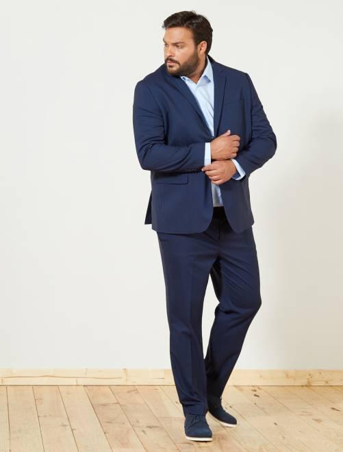 pantal n de traje caviar recto tallas grandes hombre azul marino kiabi 35 00. Black Bedroom Furniture Sets. Home Design Ideas