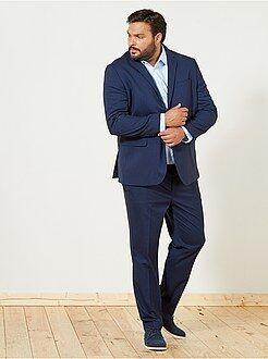 Tallas grandes hombre - Pantalón de traje caviar recto - Kiabi