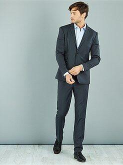 Hombre - Pantalón de traje caviar slim elástico - Kiabi